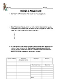 Design a Playground!  Application of Fractions, Decimals, and Percents