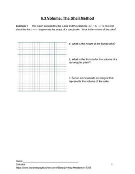 Application of Integration: Shell Method Volume Lesson 3 of 5