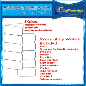 Application of Mult. & Div. Unit Vocabulary Words Interact