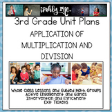Application of Multiplication and Division Lesson Plans Grade 3 {3.4K 3.5B}