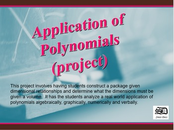 Application of Polynomials (project)
