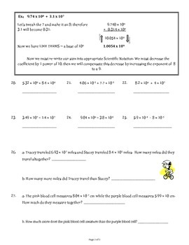 Application of Scientific Notation
