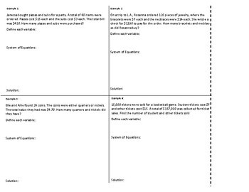 Application of Systems of Equations for Interactive Notebooks