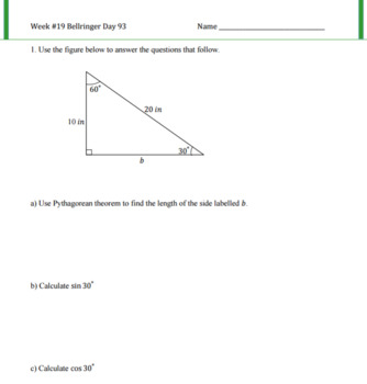 Application of Trigonometric Ratios Lesson Plan G.SRT.C.8