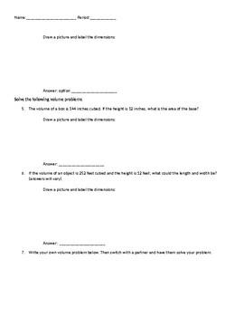 Application of volume formula for rectangular prisms