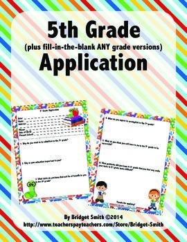 Application to 5th/Any Grade