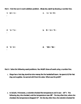 Integers 09 - Applications for Adding Positive and Negative Integers