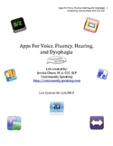 Applications for Voice, Fluency, Hearing, and Dysphagia List