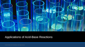 Applications of Acids and Bases