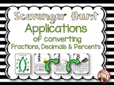 Applications of Converting Fractions, Decimals and Percents Scavenger Hunt