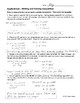 Inequalities ~ Application Problems - Writing and Solving Linear Inequalities