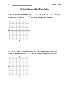 Applications of Integrals: Volume of a solid with cross sections