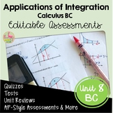 Applications of Integration Assessments (BC Version - Unit 8)