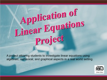Applications of Linear Equations (project)