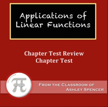 Applications of Linear Functions Test