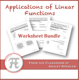 Applications of Linear Functions Worksheet Bundle