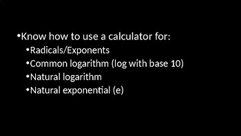 Applications of Logarithms - PowerPoint Lesson (8.6)