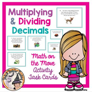 Applications of Multiplying and Dividing Decimals Word Problems Smartboard