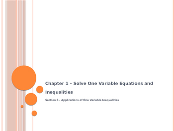 Applications of One Variable Inequalities