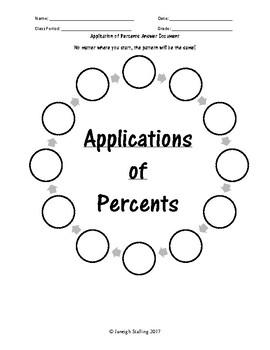 Applications of Percent Scavenger Hunt