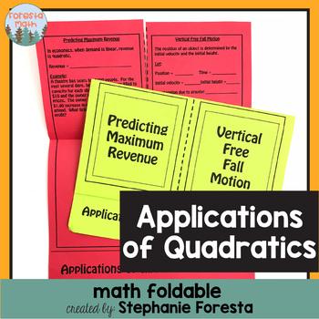 Applications of Quadratics Foldable