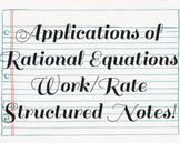 Applications of Rational Equations: Work Problems Structur