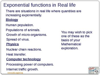 Applications of exponential and logarithmic functions