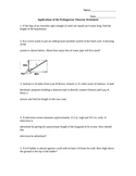Applications of the Pythagorean Theorem Worksheet - Word Problems