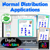 Applications to the Normal Distribution with GOOGLE Slides™ Distance Learning