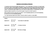 Applications with Systems of Equations - Group Problem Sol