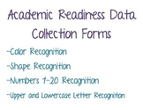 Applied Behavior Analysis Data Collection Forms for Academic Readiness Skills