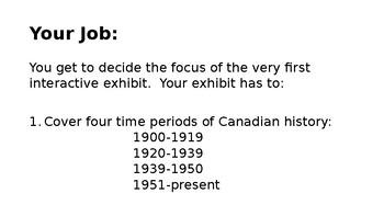 Applied Canadian History Exam Summative Project