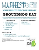 Fun Groundhog Day Activity! Applied Math & Pre-Algebra: Pe