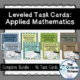 Applied Math Task Card Bundle - Leveled - Suitable for Rev