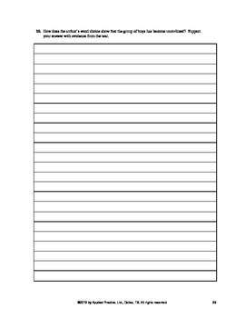 Lord of the Flies Chapter 12 English Skills worksheet by Applied Practice