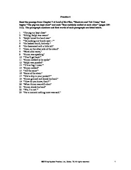 Lord of the Flies Chapter 7 English Skills worksheet by Applied Practice
