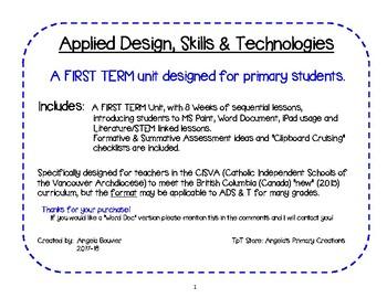 Applied Skill, Design & Tech 1st Term Plan