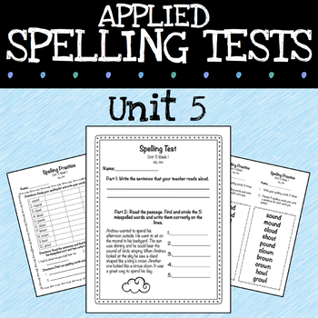 Applied Spelling Tests and Practice (Unit 5)