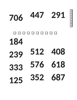 Apply Options for math standard 2.NBT.A.1