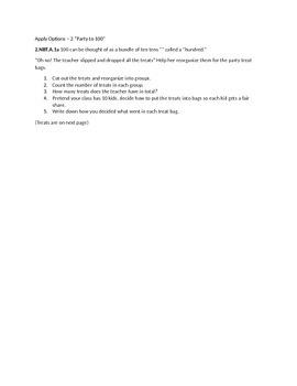 Apply Options for math standard 2.NBT.A.1a