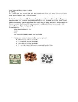 Apply Options for math standard 2.NBT.A.1b