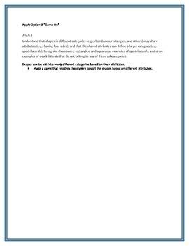 Apply Options for math standard 3.G.A.1