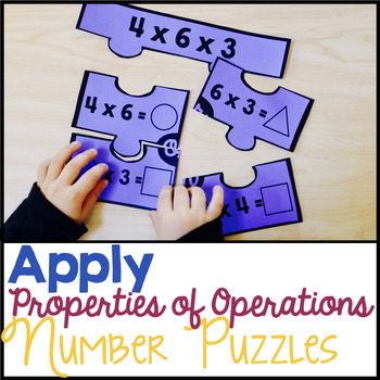 Apply Properties of Operations Number Puzzle - Multiplication & Division