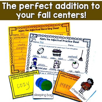 Fall Game for Adjectives and Descriptive Writing