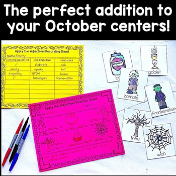 Halloween Game for Adjectives and Descriptive Writing