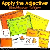 Apply the Adjective! {Thanksgiving Edition}