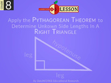 Apply the Pythagorean Theorem to Determine Unknown Side Lengths