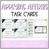 Applying Affixes Task Cards (Higher Level Prefix & Suffix