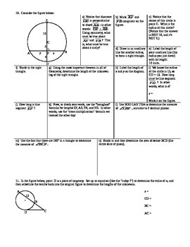Applying Circle Formulas Chords Secants Tangents Spring 2014 (Editable)
