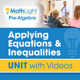 Applying Equations & Inequalities | Pre Algebra Unit with Videos